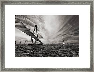 Arthur Ravenel Jr. Bridge Over The Cooper River Framed Print