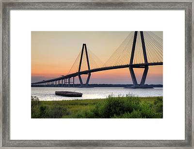 Arthur Ravenel Jr. Bridge Sunset Framed Print