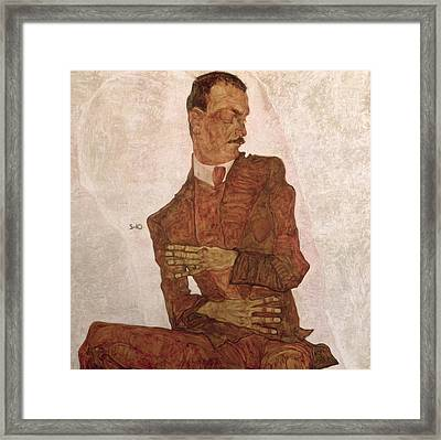 Arthur Roessler Framed Print by Egon Schiele