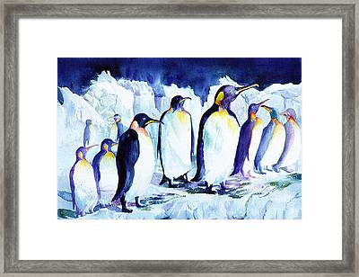 Arctic Penquins Framed Print
