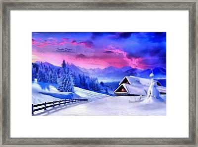 Artic Winter - Monet Inspired Framed Print