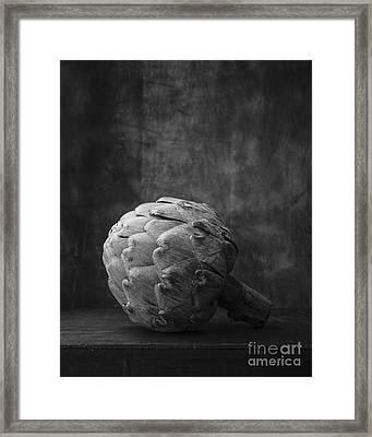 Artichoke Black And White Still Life Framed Print by Edward Fielding
