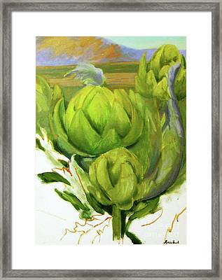 Artichoke  Unfinished Framed Print