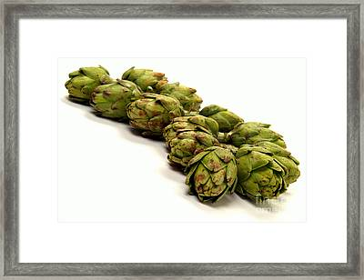 Artichokes Framed Print by Olivier Le Queinec