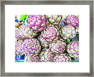 Artichokes Framed Print by Tom Gowanlock