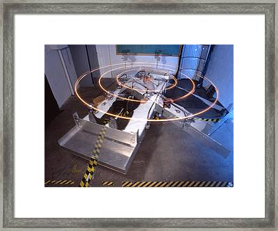Artificial Gravity Platform Framed Print by Volker Steger