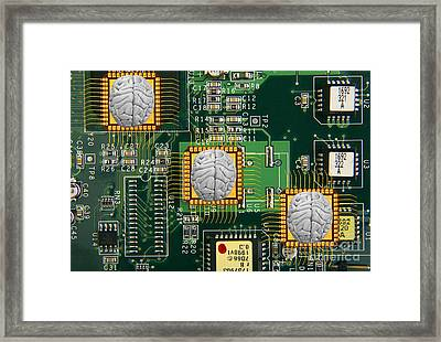 Artificial Intelligence, Conceptual Framed Print