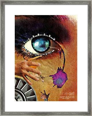 Artificial Tears Framed Print by Sarah Loft