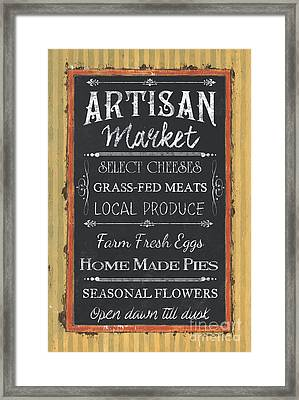 Artisan Market Sign Framed Print by Debbie DeWitt