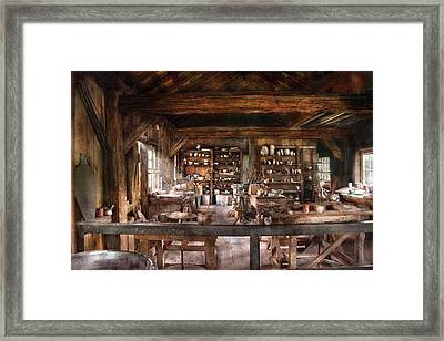 Artist - Potter - The Potters Shop  Framed Print by Mike Savad