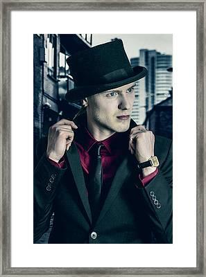 Artist And Businessman Framed Print