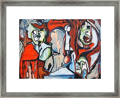 Artist And His Muses Framed Print