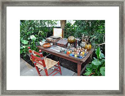 Frida Kahlo's Desk And Chair Framed Print