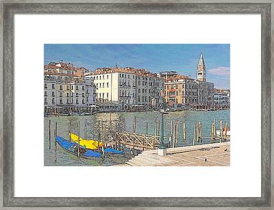 Artist Impression Of Venice Framed Print by Johan Elzenga