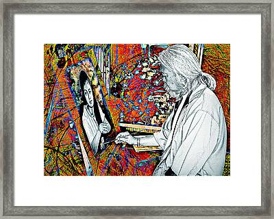 Artist In Abstract Framed Print