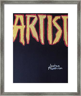 Artist 2009 Movie Framed Print