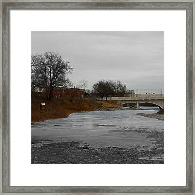 Framed Print featuring the digital art Artist On The Bow by Stuart Turnbull