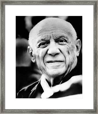 Artist Pablo Picasso. 1971 Framed Print by Everett