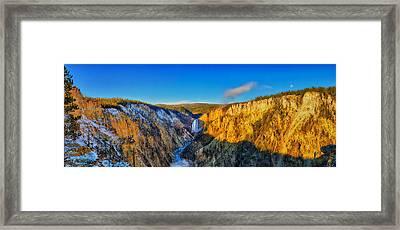 Artist Point Morning Panorama Framed Print