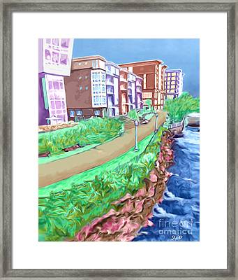 Artist Row Framed Print by Rachelle Petersen