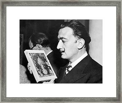 Artist Salvador Dali Framed Print by Underwood Archives