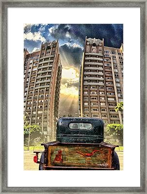 Artist Trucking In The Lbc Framed Print by Bob Winberry
