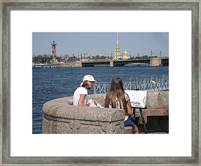 Framed Print featuring the photograph Artist  by Yury Bashkin