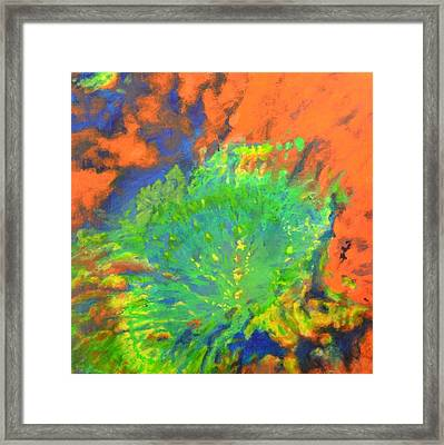 Artistarchus Crater On Moon In Reverse Color Framed Print by Jim Ellis