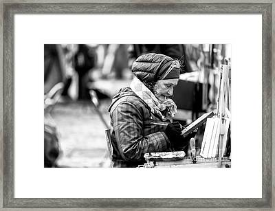 Artiste Paris Framed Print by John Rizzuto