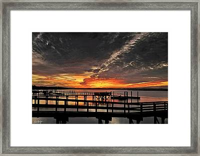 Artistic Black Sunset Framed Print by Phill Doherty