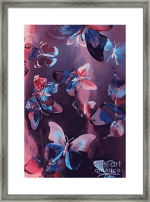 Artistic Colorful Butterfly Design Framed Print