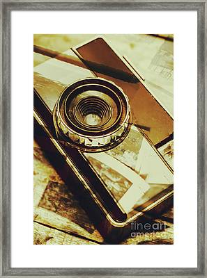 Artistic Double Exposure Of A Vintage Photo Tour Framed Print