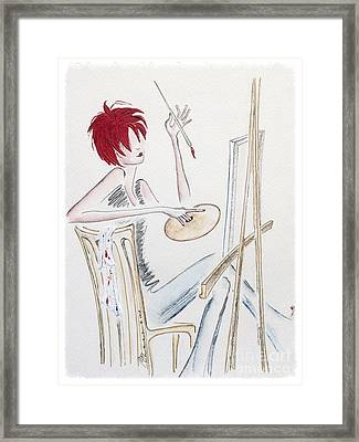 Artistic Endeavor Framed Print by Barbara Chase