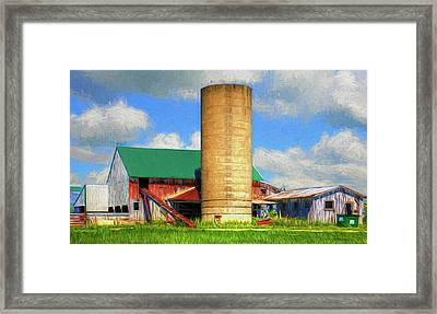 Artistic Farm Landscape Framed Print by William Sturgell