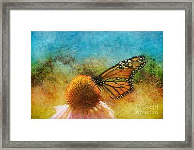 Artistic Monarch Framed Print