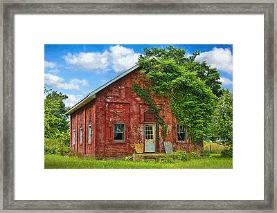 Artistic Old Abandoned Schoolhouse Framed Print by William Sturgell