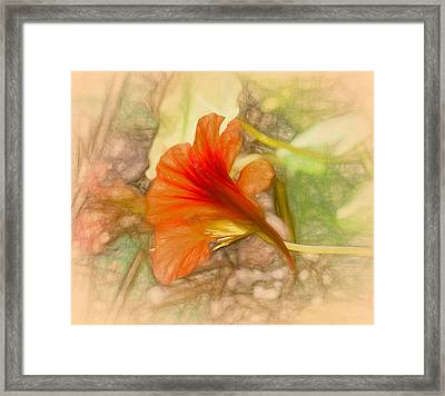 Artistic Red And Orange Framed Print