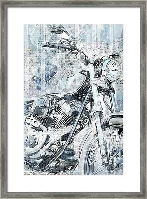 Artistic Ride Blue Framed Print