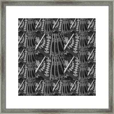 Artistic Sparkle Floral Black And White Graphic Art Very Elegant One Of A Kind Work That Will Show G Framed Print