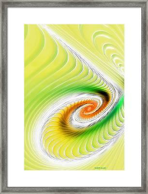 Artistic Spiral Framed Print by Deborah Benoit