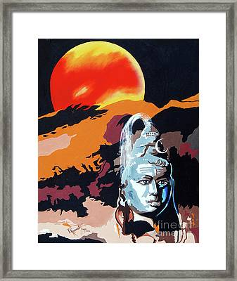 Artistic Vision Of The Almighty Framed Print