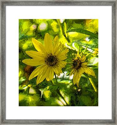 Artistic Yellow And Green Tones Framed Print by Leif Sohlman