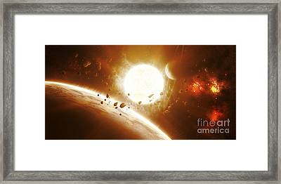 Artists Concept Of 51 Pegasi Framed Print by Kevin Lafin