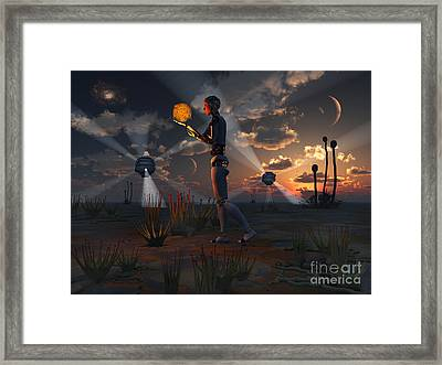 Artists Concept Of A Quest To Find New Framed Print
