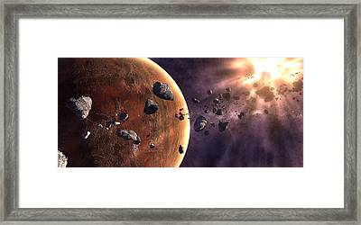 Artists Concept Of A Supernova Framed Print by Frieso Hoevelkamp