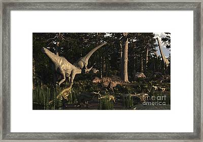 Artists Concept Of Fauna That Framed Print