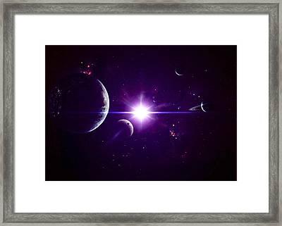 Artists Concept Of Jovian Planets Framed Print