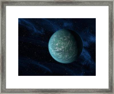 Artists Concept Of Kepler 22b, An Framed Print by Stocktrek Images