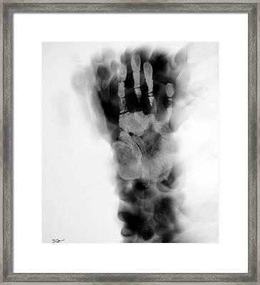 Artist's Hand X-ray Framed Print
