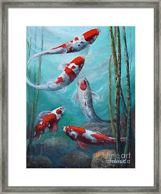 Artist's Pond Fish Framed Print by Gail Salitui